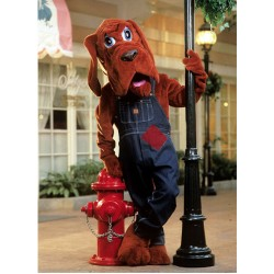 Bloodhound Without Clothes Mascot Costume 139