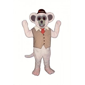 Marty Mouse With Vest And Hat Mascot Costume 1805MA-Z