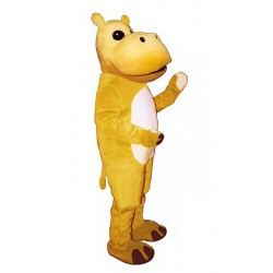 Yellow Hippo Mascot Costume 1637-Z