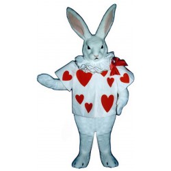 White Rabbit with Jacket Mascot Costume 2501WA-Z
