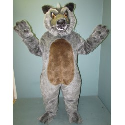 Grey Growling Wolf Mascot Costume 1339G-Z
