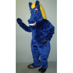 Blue and Yellow Horse Mascot Costume 1503B-Z