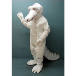 Albino Alligator Mascot Costume 159-Z