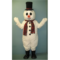 Extra Round Snowman w/ Hat & Scarf Mascot Costume 2707A-Z