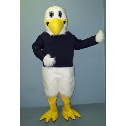 White Eagle w Shirt Mascot Costume 1026A-Z