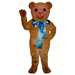 Old Fashioned Teddy w/ Bow Mascot Costume 213A-Z