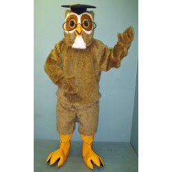 Professor Owl w Glasses Mascot Costume 2210A-Z