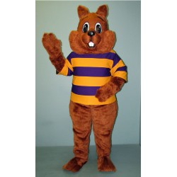 Sunny Squirrel with Shirt Mascot Costume 2814A-Z