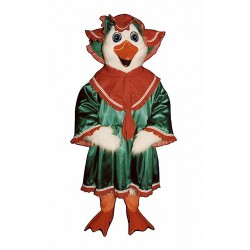 Holiday Goose with Dress and Hat Mascot Costume 3211A-Z