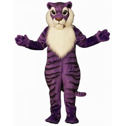 Purple Tiger Mascot Costume 566P-Z