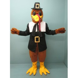 Dressed Pilgrim Turkey Mascot Costume 637DD