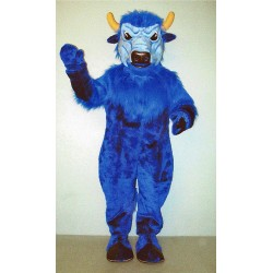 Blue Bison Mascot Costume 713B-Z