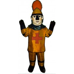 Golden Knight Mascot Costume MM38-Z