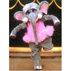 Elephant Without Clothing Mascot Costume 34