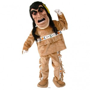 Yellow Feathers Indian Mascot Costume 460