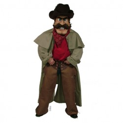 Cowboy with Duster Mascot Costume 603