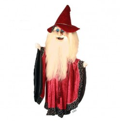 Merlin Wizard Mascot Costume 612