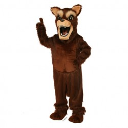 Brown Big Bad Wolf Mascot Costume 649
