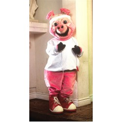 Ollie Oink Without Clothing Mascot Costume 97
