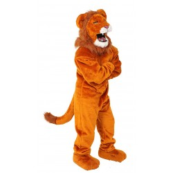 Power Real Cat Orange Lion Mascot Costume #703