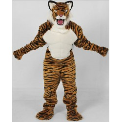 Power Real Cat Tiger Mascot Costume 702M