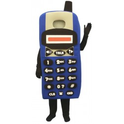 Blue Cell Phone (Bodysuit not included) Mascot Costume FC105-Z