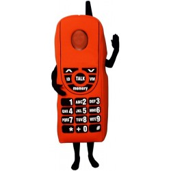 Red Cell Phone (Bodysuit not included) Mascot Costume FC148-Z