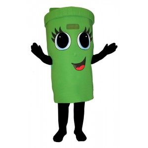 Girl Recycle Can (Bodysuit not Included) Mascot Costume FC157-Z