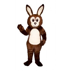 Brown Fat Bunny Mascot Costume 1112B-Z