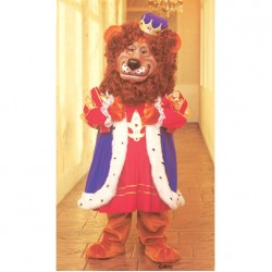 Louie Lion Without Clothing Mascot Costume 185