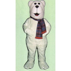 Arctic Bear w/ Scarf Mascot Costume 216WA-Z