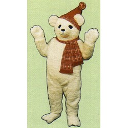 Snow Bear w/ Hat & Scarf Mascot Costume 227A-Z