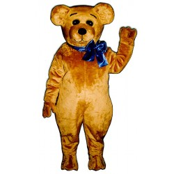 Happy Teddy w/ Bow Mascot Costume 241A-Z