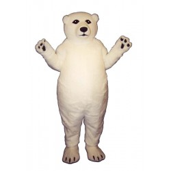 Fatty Polar Bear Mascot Costume 290-Z