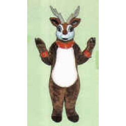 Cute Reindeer w/ Lite-Up Nose Collar & Cuffs Mascot Costume 3101A-Z