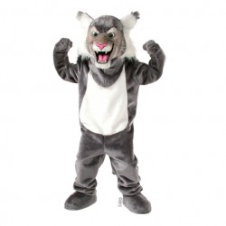 Grey Wildcat Mascot Costume 507