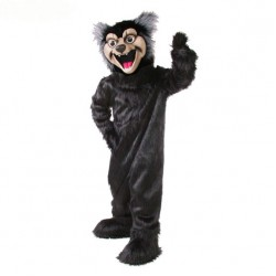 Black Wolf Mascot Costume 511-QSW