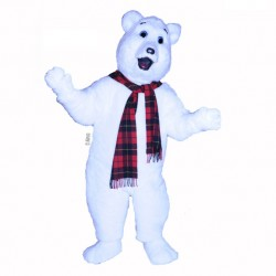 Snow Bear Mascot Costume 650