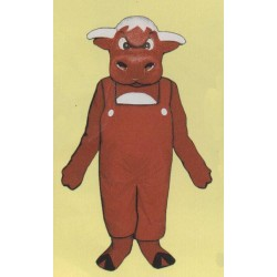 Angry Bull w/ Overalls Mascot Costume 709A-Z