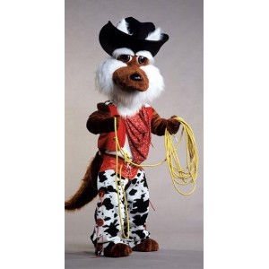 Coyote Mascot Costume With Clothes 86