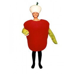 Wormy Apple  Mascot Costume  (Bodysuit not included) PP78-Z