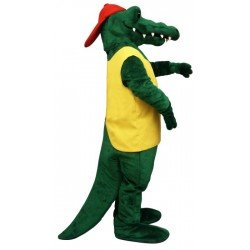Tuff Gator Mascot Costume with Vest and Hat 145A-Z