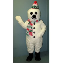 Smiling Snowman w/Hat & Scarf Mascot Costume 2702A-Z