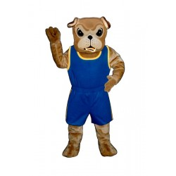 Bullie Bulldog With Jogging Suit Mascot Costume 805A-Z