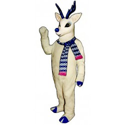 Snow Deer w/Scarf Mascot Costume 3108A-Z