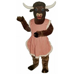 Lady Longhorn with Apron Mascot Costume 721A-Z