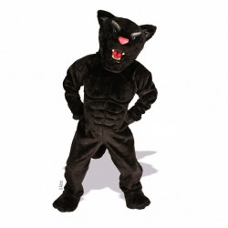 Muscle Panther  Mascot Costume 633