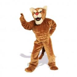 Muscle Cougar Mascot Costume 635